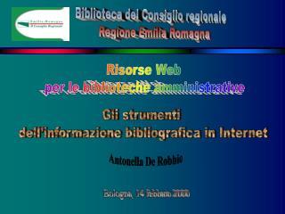 Risorse Web  per le biblioteche amministrative