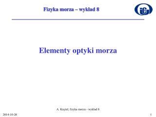 Elementy optyki morza