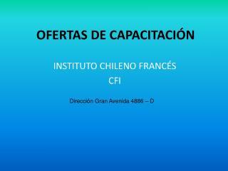 OFERTAS DE CAPACITACIÓN