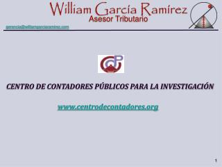 CENTRO DE CONTADORES PÚBLICOS PARA LA INVESTIGACIÓN