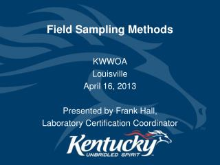 Field Sampling Methods