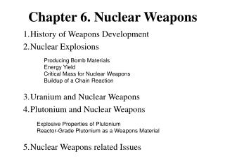 Chapter 6. Nuclear Weapons