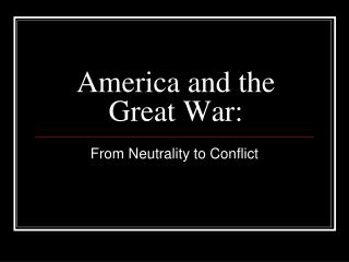 America and the Great War: