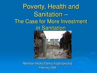 Poverty, Health and Sanitation – The Case for More Investment in Sanitation