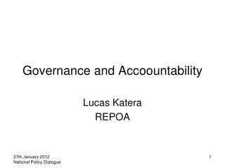 Governance and Accoountability