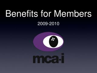 Benefits for Members