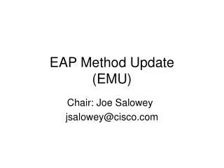 EAP Method Update (EMU)