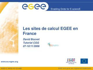 Les sites de calcul EGEE en France