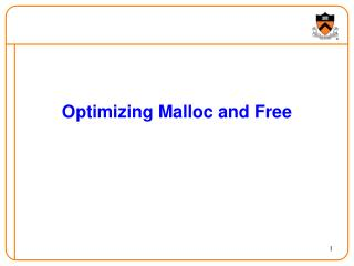 Optimizing Malloc and Free