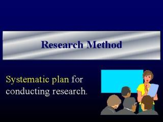 research-method-and-project