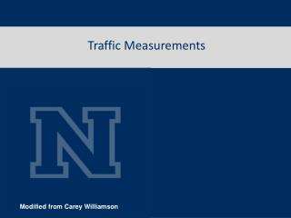 Traffic Measurements