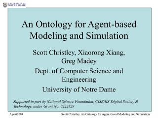 An Ontology for Agent-based Modeling and Simulation