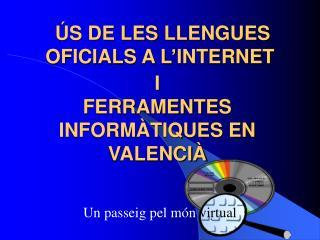 ÚS DE LES  LLENGUES  OFICIALS  A L'INTERNET