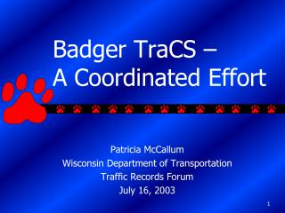 Badger TraCS –  A Coordinated Effort