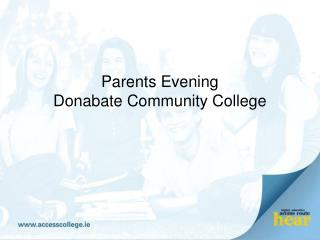 Parents Evening Donabate Community College