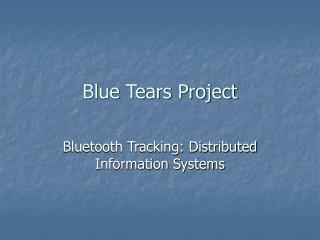 Blue Tears Project