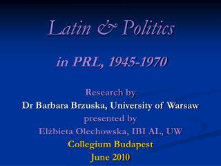 Latin & Politics