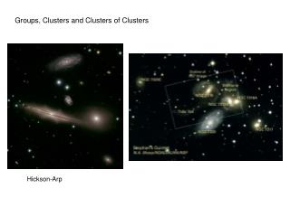 Groups, Clusters and Clusters of Clusters