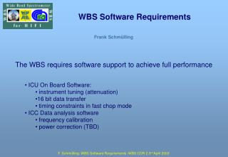 WBS Software Requirements
