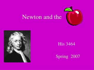 Newton and the