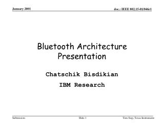 Bluetooth Architecture Presentation