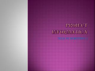 Proiect informatica
