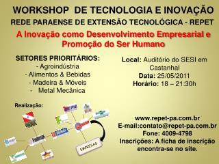 WORKSHOP  DE TECNOLOGIA E INOVAÇÃO