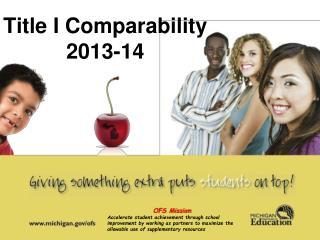 Title I Comparability 2013-14