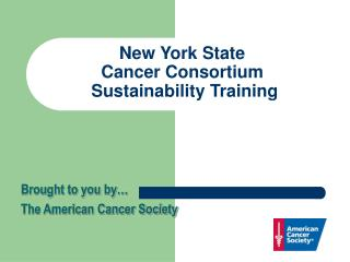 New York State  Cancer Consortium  Sustainability Training