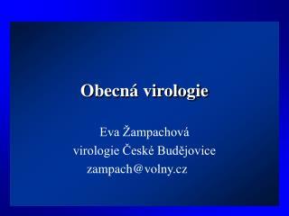 Obecná virologie