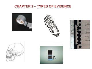 Chapter 2 – Types of Evidence