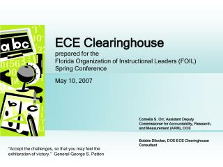 End-of-Course Examinations (ECE) Clearinghouse