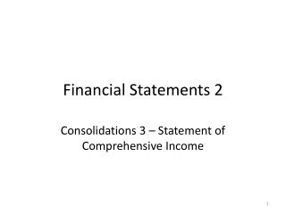 Financial Statements 2
