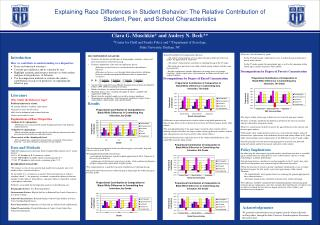 Explaining Race Differences in Student Behavior: The Relative Contribution of