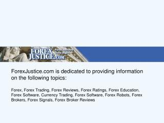 Forex Justice - The Fair Forex Trading Forum