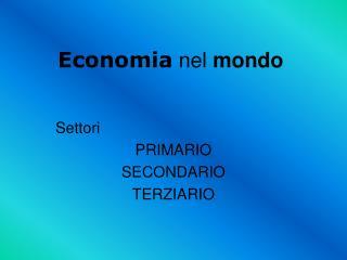 Economia  nel  mondo