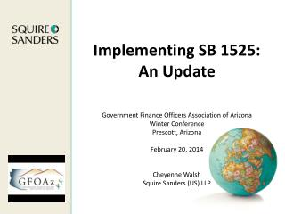 Implementing SB 1525: An Update