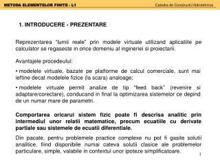 1 .  INTRODUCERE - PREZENTARE