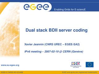 Dual stack BDII server coding