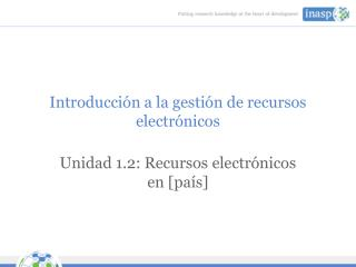 Introducción a la gestión de recursos electrónicos