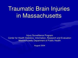 Traumatic Brain Injuries in Massachusetts