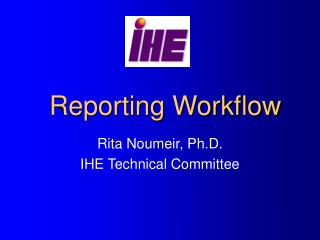 Reporting Workflow
