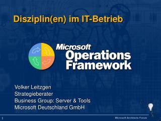 Disziplin(en) im IT-Betrieb