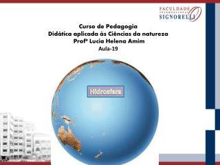 Curso  de Pedagogia  Didática aplicada às  Ciências  da natureza  Profª  Lucia Helena Amim Aula-19