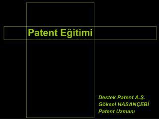 Patent Eğitimi