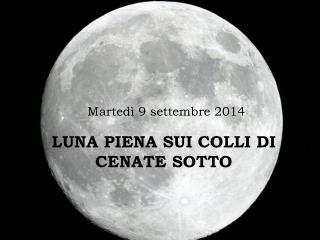 Martedì 9 settembre 2014