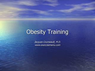 Obesity Training