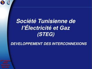 Société Tunisienne de  l'Électricité et Gaz  (STEG)