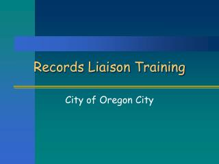 Records Liaison Training