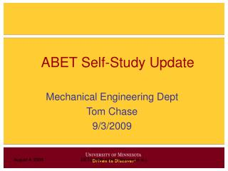 ABET Self-Study Update